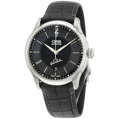 Oris Limited Edition Black Dial Stainless Steel Men's Watch 73375914084SETLS