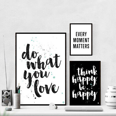 Inspirational Quote Wall Art Canvas Posters Abstract Prints Modern Home Decor