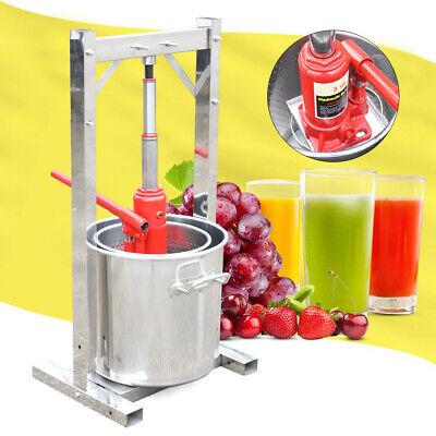 Prensa de vino de frutas 12L Sidra Trituradora de uva Juice Maker...