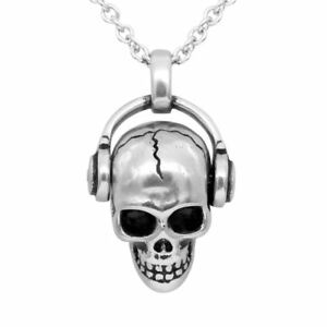 Skull Necklace Rock 'N' Skull Pendant with Swarovski Crystal Jewelry By Controse