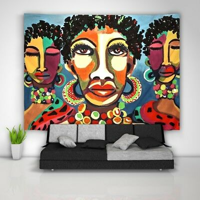 African Tapestry (African Painted Tapestry Art Wall Hanging Sofa Table Bed Cover Home Decor )