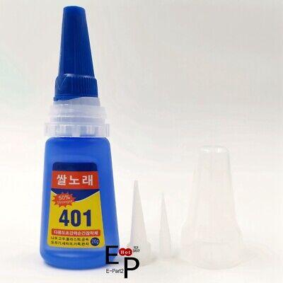 New 20g 401 Instant Adhesive Bottle Stronger Super Glue Multi-Purpose Glue
