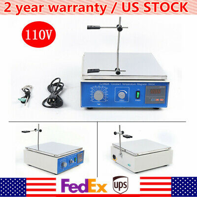 110v Magnetic Stirrer Cj-882a With Hot Plate Digital Heating Lab Mixer 10l