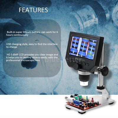 4.3 Lcd 1-600x Desktop 8led Studio Lab Usb Digital Microscope 3.6mp Camera T8f3
