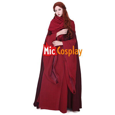 The Red Woman Lady Melisandre of Asshai Cosplay Costume Dress Game of Thrones - Game Of Thrones Melisandre Costume