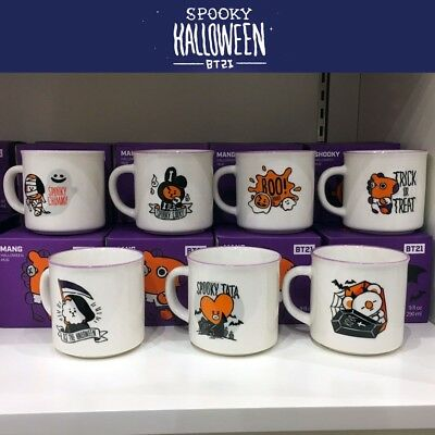 BTS BT21 Official Authentic Goods Mug Halloween Ver 9fl.oz 290ml + Track Number - Number 9 Halloween