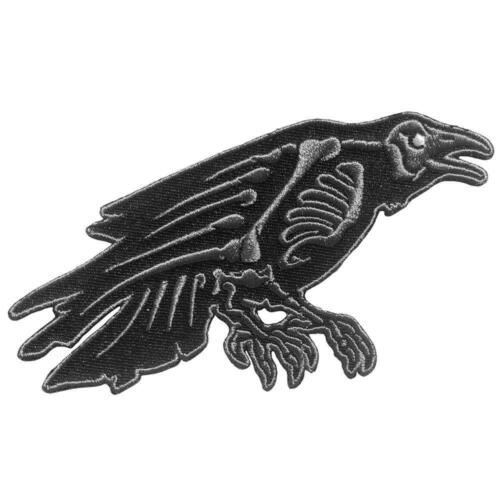 Horror Patch Iron On Raven Skeleton Gothic Witch Nevermore Edgar Allan Poe Gift