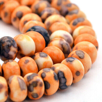 25 Jade Beads 6mm x 4mm Abacus Dyed Gemstone Beads - BD906