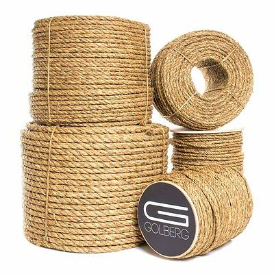 Golberg 3 Strand Natural Fiber Tan Manila Rope Available In Many Sizes   Lengths