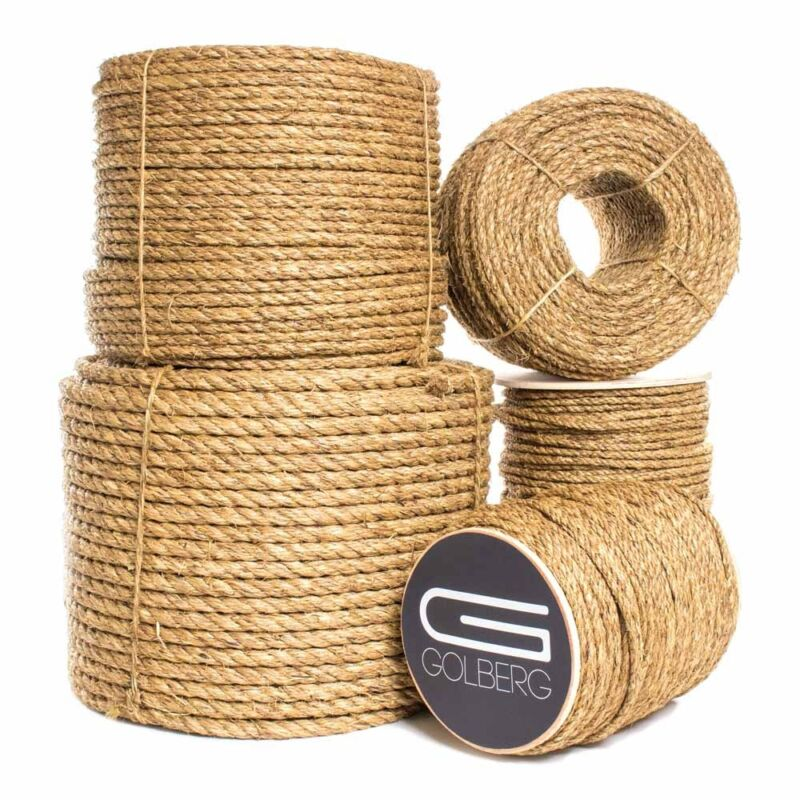 """600/' GOLBERG Premium USA Made Twisted Nylon Rope 1//2 Available in Lengths of 10/' 3//4 50/' 25/' 100/' 3//8/"""" 1/"""" 5//16/"""" 1.25/"""" 5//8/"""" Choose from 1//4 1.5/"""" 2/"""" Diameter"""