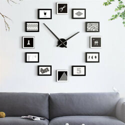 12Picture Wall Clock Modern Photo Frame Hanging Home Decor Family Friend Nordic