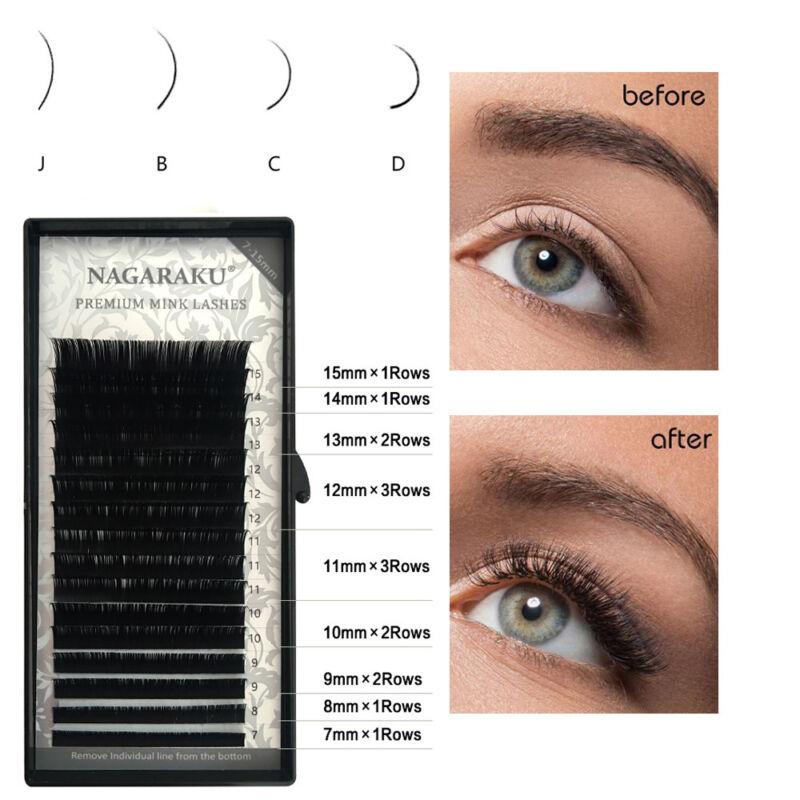 7~15mm Mix Length Faux Mink Eyelash Individual Volume Lashes