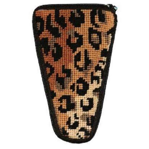 Stitch & Zip Needlepoint Scissor Case Kit - Leopard