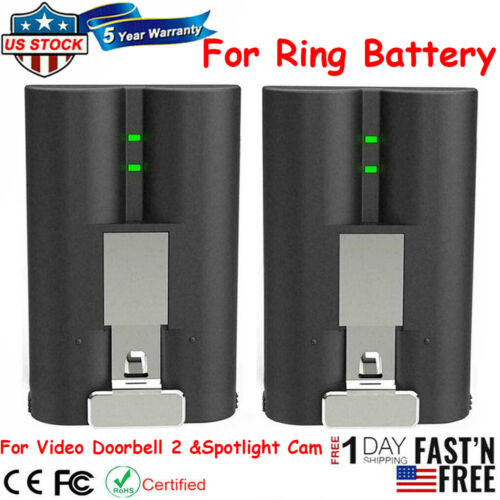 Rechargeable Battery Pack Quick Release For Ring Video Doorbell 2 &Spotlight Cam