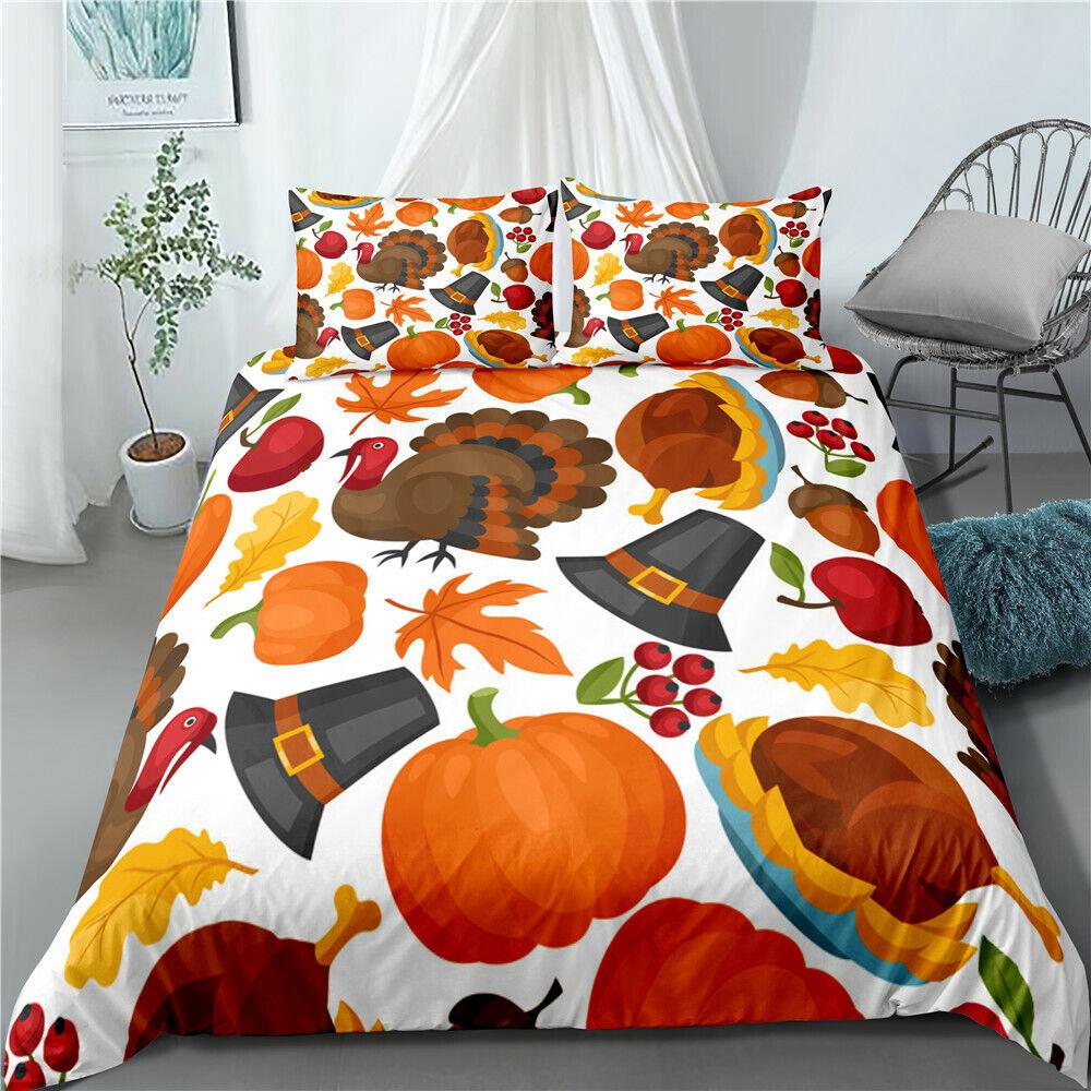 3d Thanks Giving Day Bedding Set Duvet Cover Gratitude Element Comforter Cover Ebay