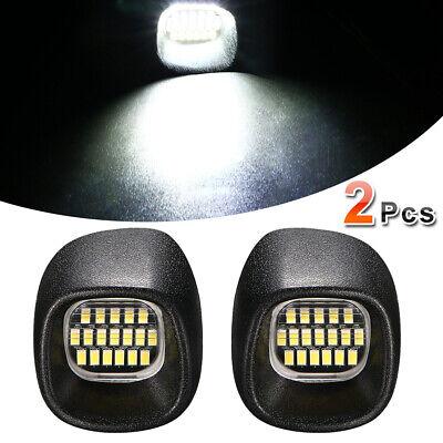 1Pair License Plate Light LED Lamp Bright For 1998-2005 Chevy Blazer S10 Black