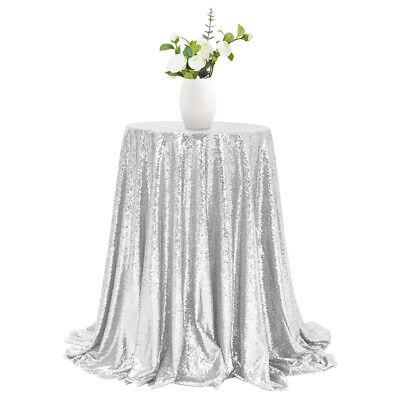 Silver Sequin Tablecloth (Silver 48