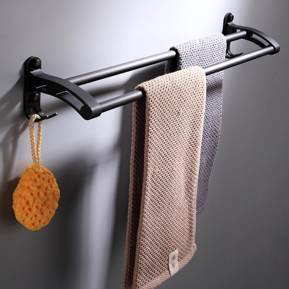 Doppel-Badetuchstange Handtuchstange Handtuchhalter Wandmontage Handtuchreling