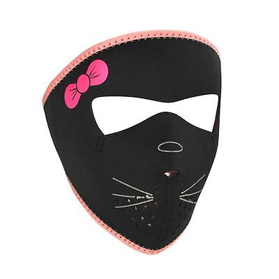 ZANheadgear Motorcycle Ski Board Halloween CHILD SMALL FACE MASK - KITTY](Baby Kitty Face Halloween)