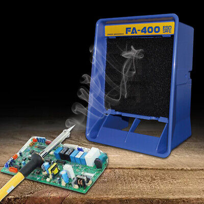 Fa-400 Solder Smoke Absorber Remover Soldering Fume Extractor Filter Fan 110v Us