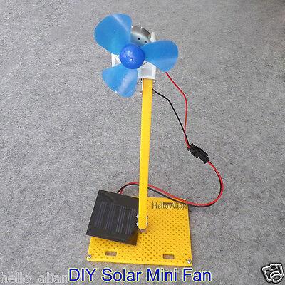 Solar Power Generator Dc Motor Mini Fan Panel Diy Science Education Model Kit