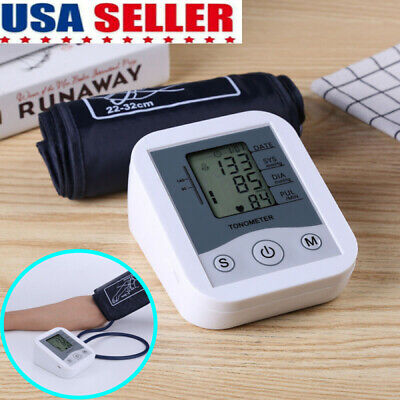 US Automatic Upper Arm BloodPressure Monitor Digital BP Cuff machine Pulse meter