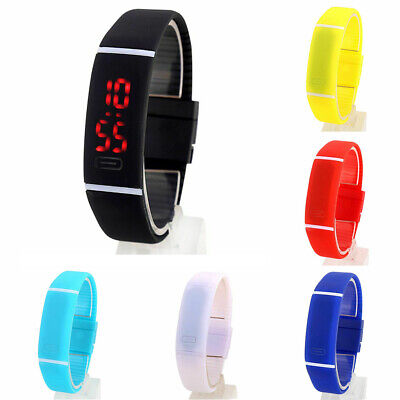 Led-digital-wasser (Digitaluhr Sport Uhr LED Digital wasserdicht Silikon Armband Armbanduhr Unisex)