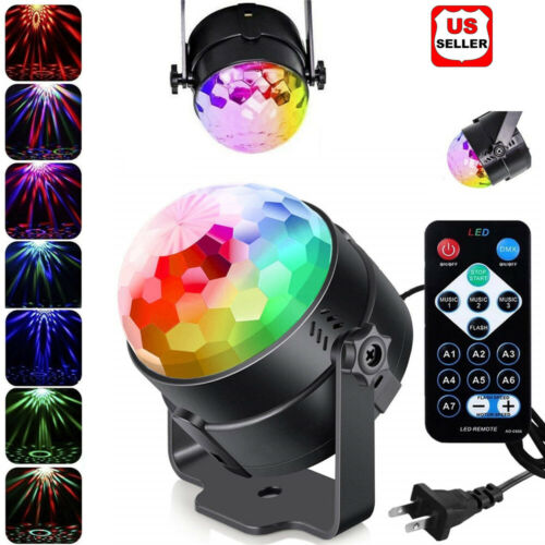 Disco Party Lights Strobe Led Dj Ball Sound Activated Bulb Dance Lamp Decoration Musical Instruments & Gear
