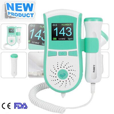 Medical 3mhz Probe Pocket Fetal Doppler Baby Heart Monitor Color Lcd Display