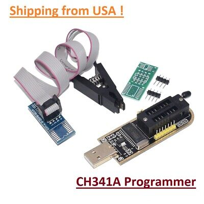 Ch341a Programmer Flashing Module W Test Clip For Eeprom 93cxx25cxx24cxx