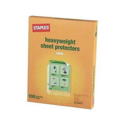 Staples Heavy-duty Sheet Protectors 489131