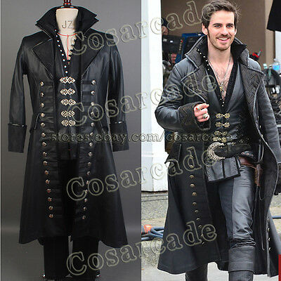 Hook Once Upon A Time Costume (Once Upon A Time Captain Hook Killian Jones Cosplay Attire Suit Outfit)