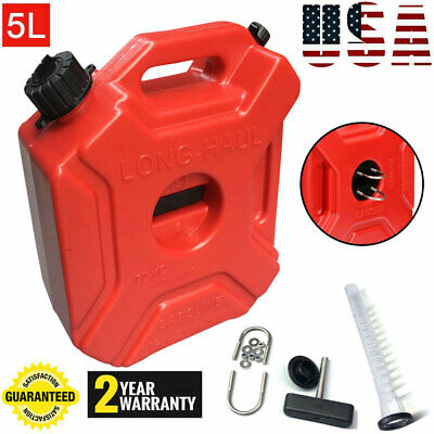 1.3gallon 5l Fuel Can Gas Fuel Tank Petrol Atv Motorcyclecar Storage Container