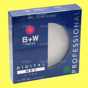 Genuine B+W 72mm F-PRO MRC 010M UV-Haze Filter 70243