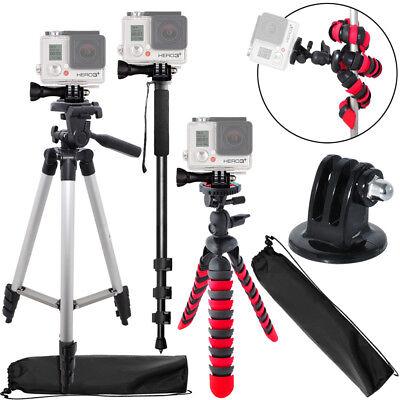 "50"" Inch Tripod + 72 Inch Monopod + 12 Inch Flexible Tripod for Gopro Camera"