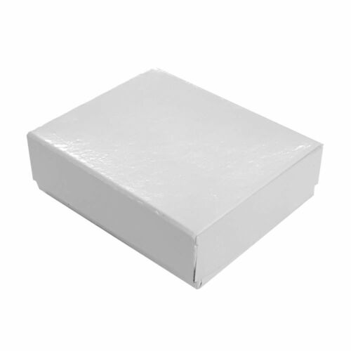 Wholesale 1000 Small White Gloss Cotton Fill Jewelry Boxes 2 1/8 x 1 1/2 x 5/8