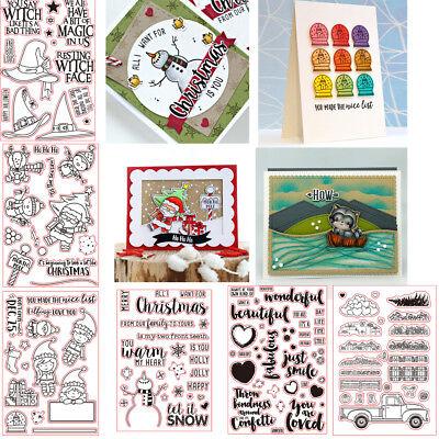 Christmas Silicone Stamp Seal Paper card Stencil DIY Scrapbooking Photo Craft (Diy Christmas Photos)