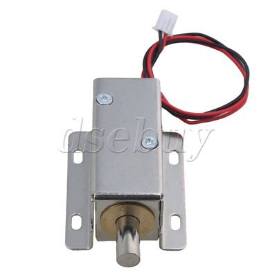 File Door Cabinet Latch Assembly Solenoid Electric Round Bolt Lock Dc24v
