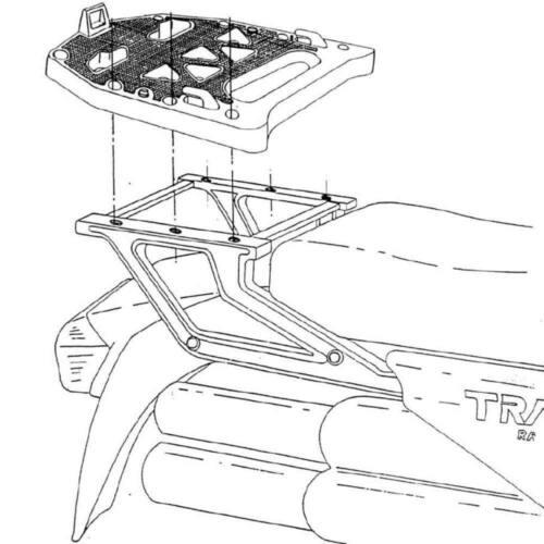 Kappa/ /Piastra posteriore specifica per bauletto MONOKEY Honda Transalp 600/88// 96