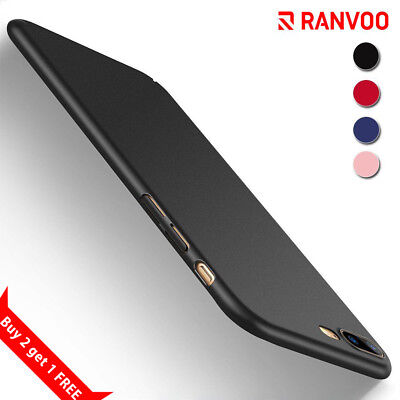 RANVOO iPhone XR SE 8 Plus 7Plus X Case Slim Ultra Thin Shockproof Hard PC Cover