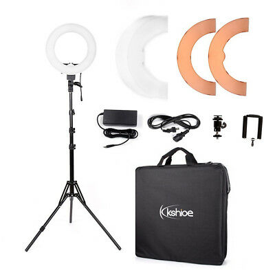 """12"""" 180Pcs LED Ring Light Dimmable 5500K for SmartPhone/Camera with Light Stick up for a confront"""