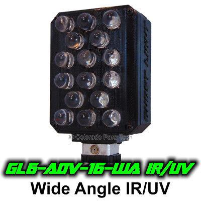 Ghost Light ™ GL6-ADV IR/UV Extra Wide Angle LED Light for Full Spectrum Cameras