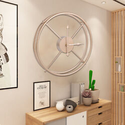 40cm Hanging Wall Clock Circular Shaped Metal Abstract Clock Home DecorationFAST