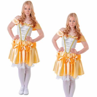 Belle Costume Teenage Adults Ladies Fairytale Fancy Dress Outfit Size - Belle Kostüm Teenager