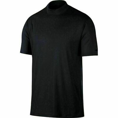 Nike Dri-Fit TW Tiger Woods Vapor Mock-Neck Golf Top Shirt Black BQ6724-011 NEW Dri Fit Mock Neck Shirt