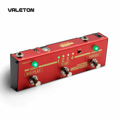 Valeton Looper Guitar Pedal Dapper Looper Mini 3 Footswitch Button Loop Station