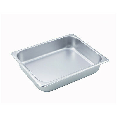 Winco SPH2, 2.5-Inch Deep Half Size Steam Table Pan, NSF