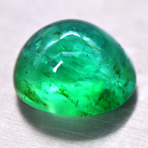 New Year Offer Natural Top Rich Green Emerald 5.49 Cts Oval Cabochon zambia Sale