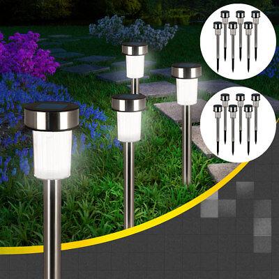 DEUBA® 24x LED Solarleuchte Solar Leuchten Edelstahl Solarlampe Gartenleuchten