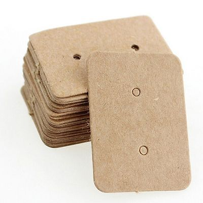 Cards Kraft Paper Cards Earring Holder Ear Studs Hanging Cards Display Cards